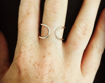 Ring in 925 sterling silver double rings