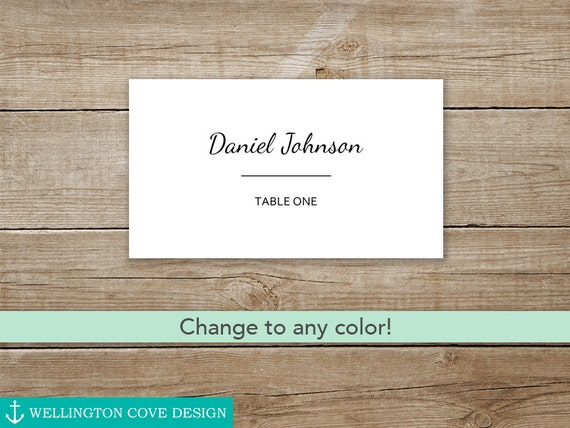 wedding place cards template for microsoft word
