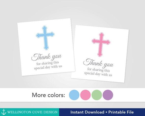 Printable Baptism Favor Tags Christening Favor Stickers Etsy