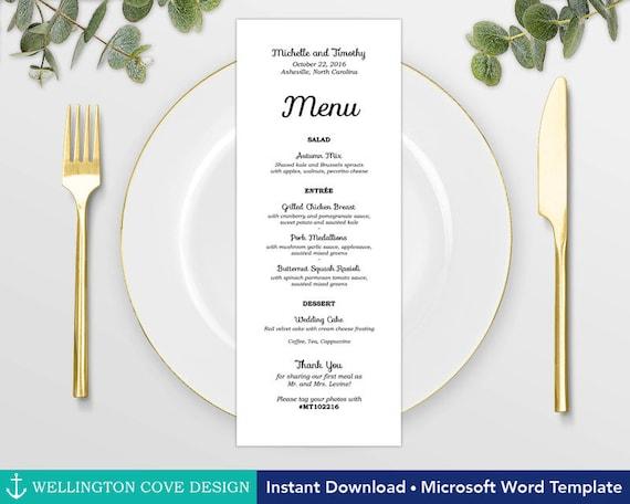microsoft word menu templates