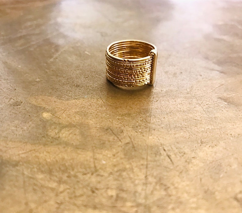 Thin Gold Rings Gold Hammered Rings Boho Jewelry Gold Stacking Ring Gold Filled Stackable Rings Unique Gold Ring Set Gold Ring Women