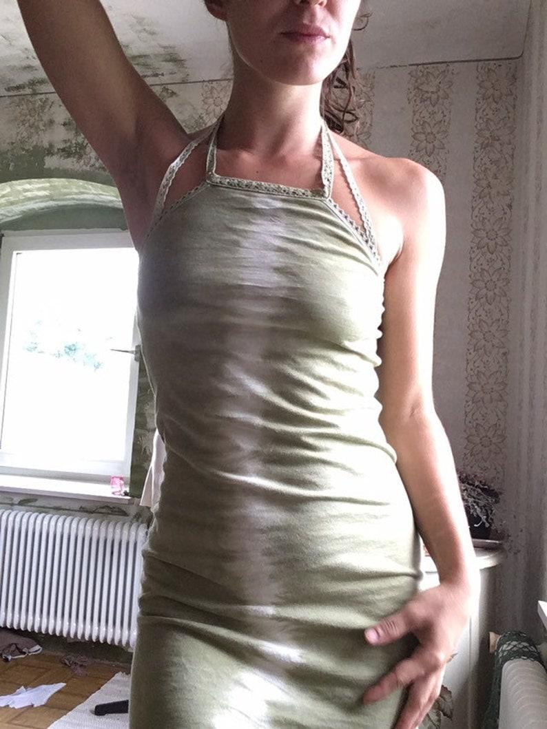 neckholder waldnymphen kleid grün bio baumwolle psy pixie