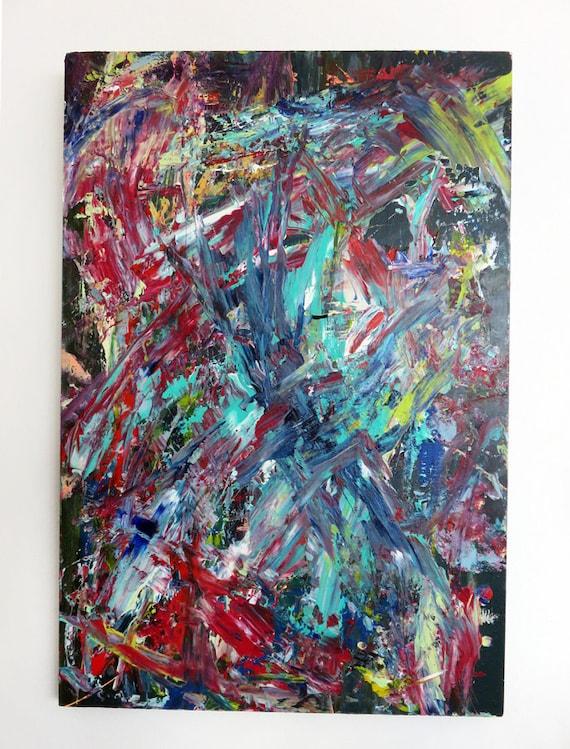 Ursprungliche Abstrakte Malerei Moderne Kunst Abstrakte Etsy