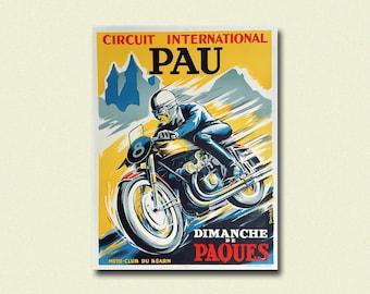 Vintage Vincent Motorcycle Poster Home Decor Man Art Christmas Present