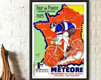 VINTAGE 1948 TOUR DE FRANCE A3 POSTER PRINT