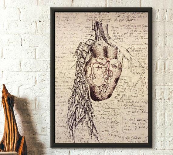 Da Vinci Anatomy Print Medical Decor Human Anatomical Poster Etsy
