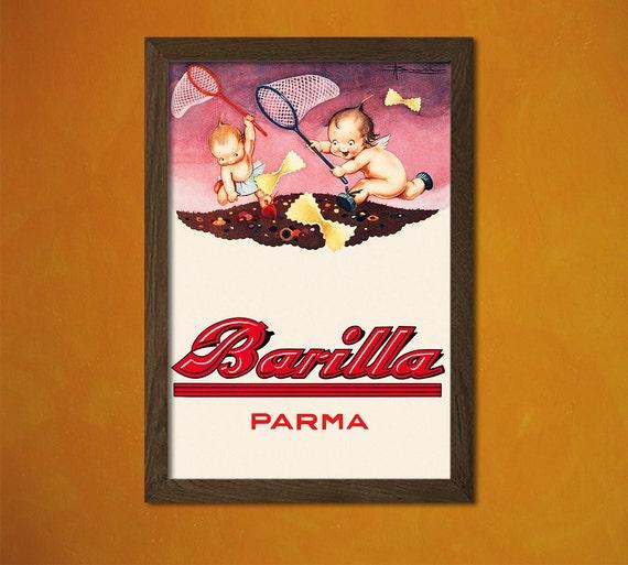Barilla Poster Küche Poster Pasta Poster Küche Dekor Küche | Etsy