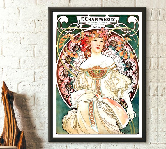 MUCHA Alphonse Art Nouveau Vintage Art Poster Print FRAME OPTIONS A4 A3 A3+