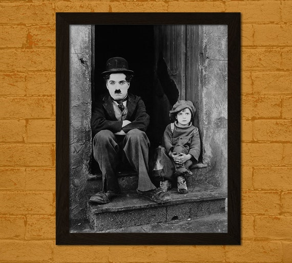 Charlie Chaplin Poster The Kid 1921 Retro Movie Poster ...