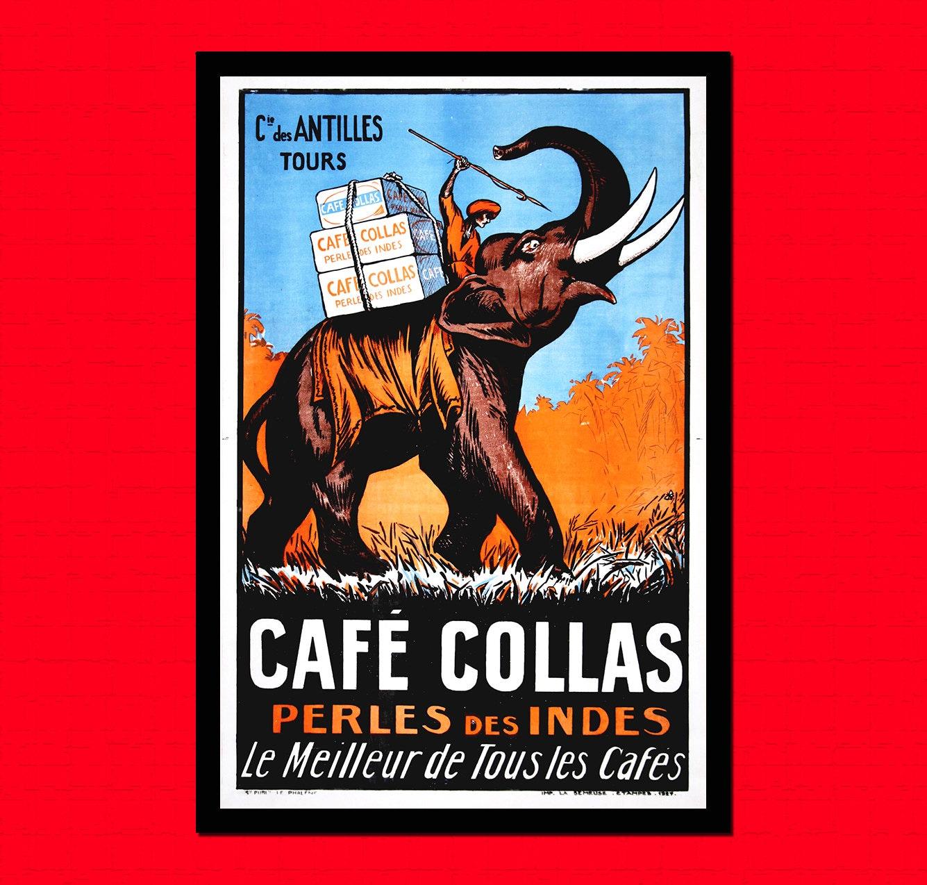 Cafe Collas Werbedruck 1927 Food Poster Kaffee Poster Küche