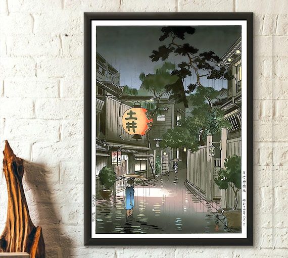 Japan Art Tsuchiya Koitsu Evening At Ushigome Koitsu Art Print Ukiyo E Art Edo Period Japanese Art Japan Wall Art