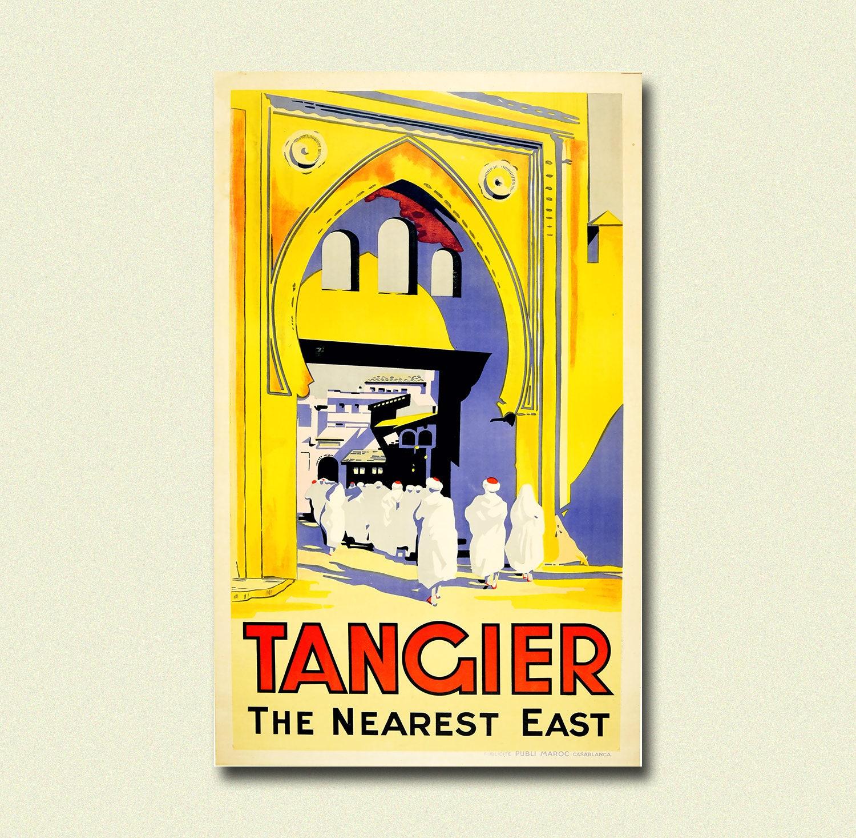 Morocoo Travel Print Tangier Poster Vintage Travel Poster   Etsy