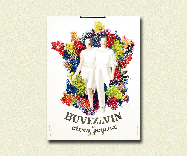 Französisch Wein Plakat Wein Dekor Wein Druck Küche Poster   Etsy