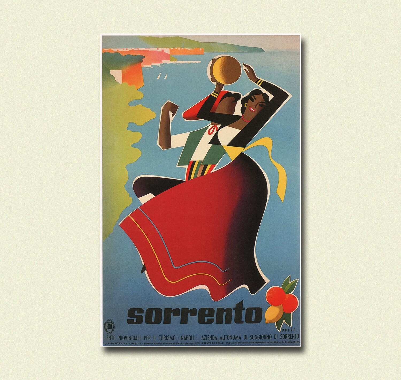 Sorrento Travel Print 1955 - Vintage Travel Poster Italy Poster ...