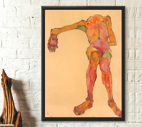 Torso Vintage Fine Art Print Egon Schiele