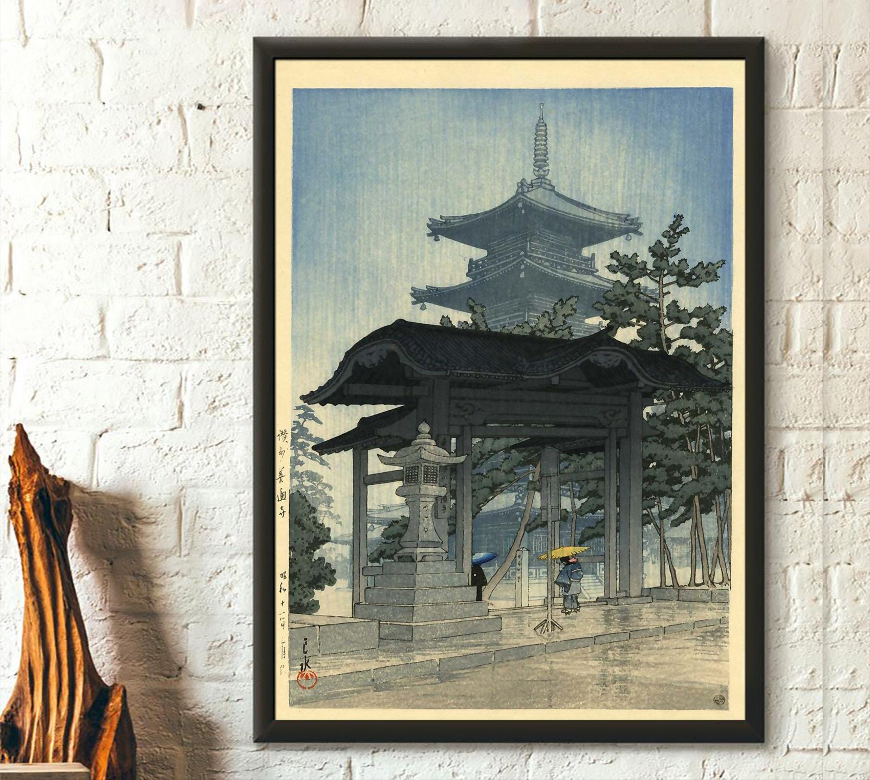 Japanese Wall Art Kawase Hasui Artwork Ukiyo E Art