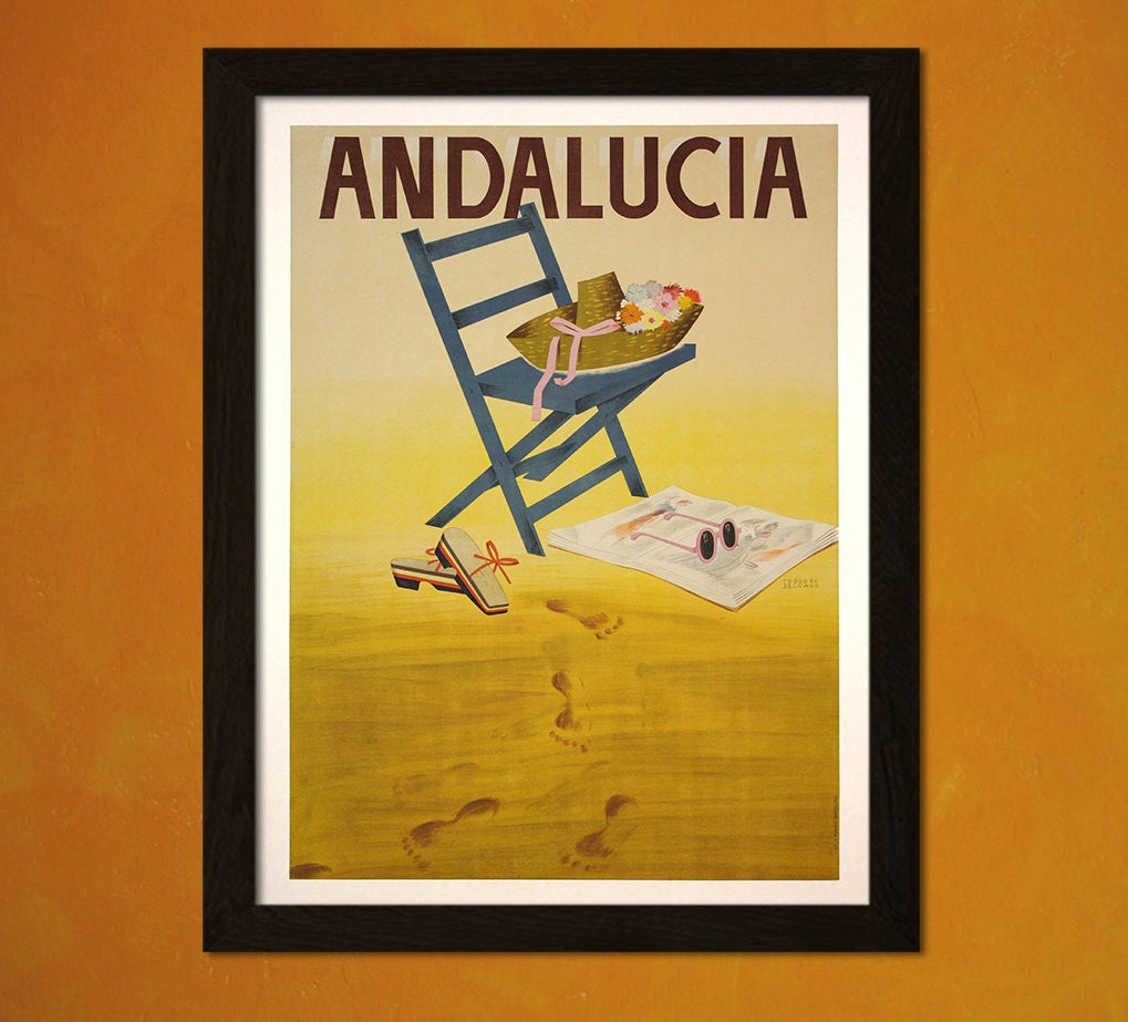 VINTAGE ANDALUCIA SPAIN SPANISH TRAVEL A4 POSTER PRINT
