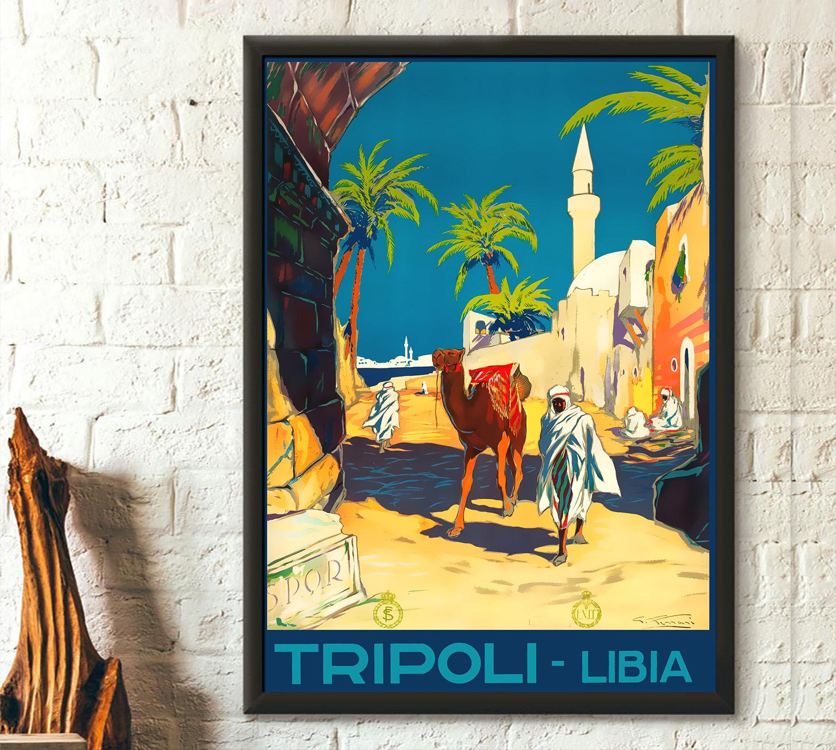 Vintage Libya Travel Print 30s