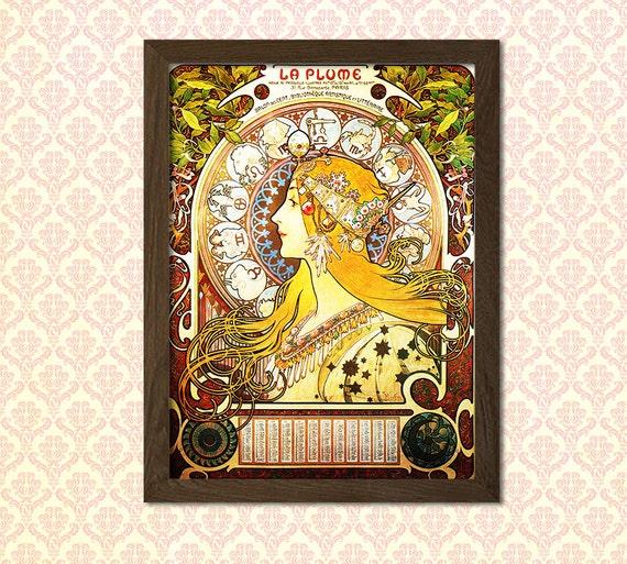 FRAME OPTIONS A4 A3 A3+ MUCHA Alphonse Art Nouveau Vintage Art Poster Print