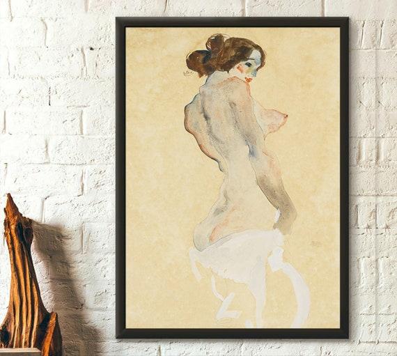 Egon Schiele Pants off Wall Art Poster Print