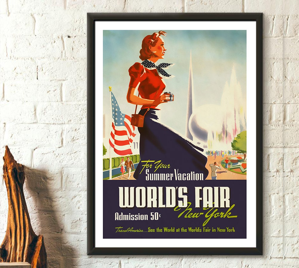NEW YORK ART PRINT Greetings from Long Island by Vintage Vacation 11x14 Poster