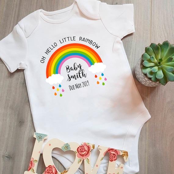 Baby Rainbow Clothes Baby Shower Gift Rainbow Baby Unisex Vest//Bodysuit