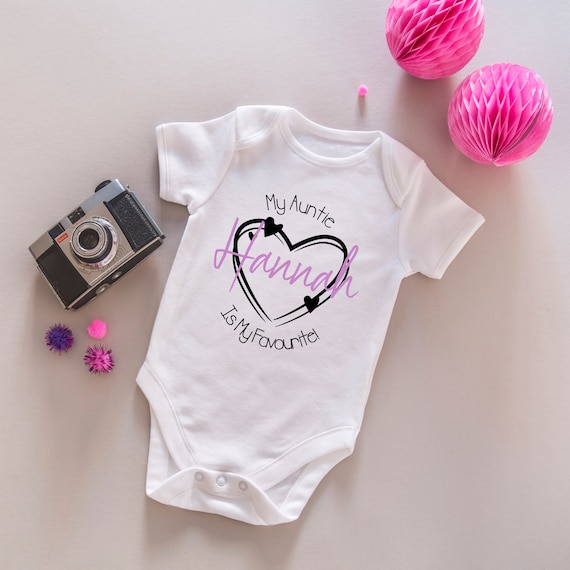 I Love My Big Sister Name Personalised Funny Baby Grow Bodysuit Vest heart