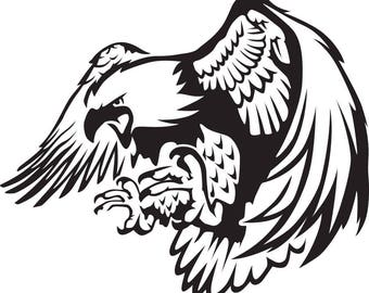 bird of prey decal etsy Romulan Bird of Prey eagle swoop svg