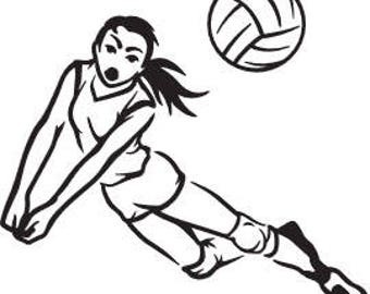 VOLLEYBALL DIVE SVG