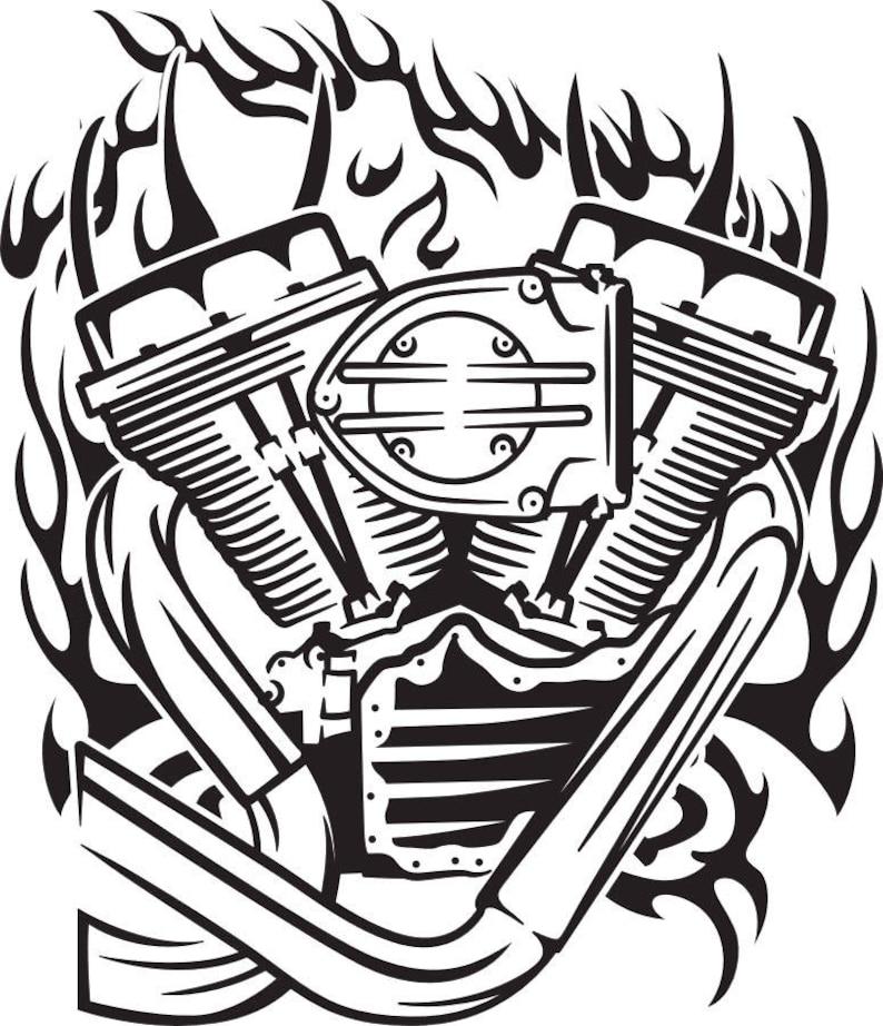 Motorcycle Engine Svg