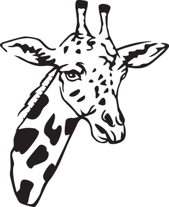 Giraffe Svg File Etsy
