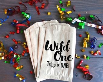 wild one favor bag etsy
