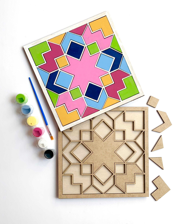 DIY Craft Kit Gift for Her DIY Kit Wooden Barn Quilt Kit DIY Paint Kit Craft Kit for Adults