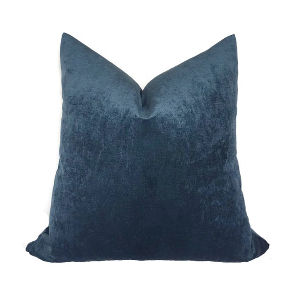 Pleasant Blue Velvet Pillow Cover Blue Throw Pillows Decorative Pillows Pillow Case Slate Blue Sofa Pillow Cover Theyellowbook Wood Chair Design Ideas Theyellowbookinfo