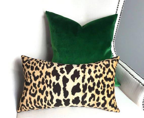 Velvet Pillow Covers Throw Pillows Leopard Pillow Cover Etsy Beauteous Throw Pillow Covers Etsy