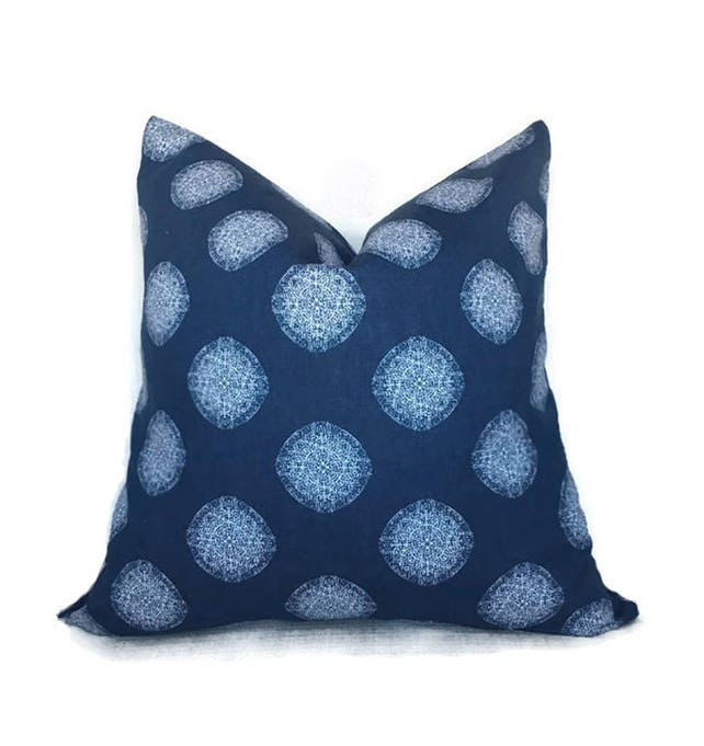 Blue Pillow Cover 40x40 Pillow Cover Decorative Pillow Toss Etsy Beauteous Etsy Pillow Covers 20x20