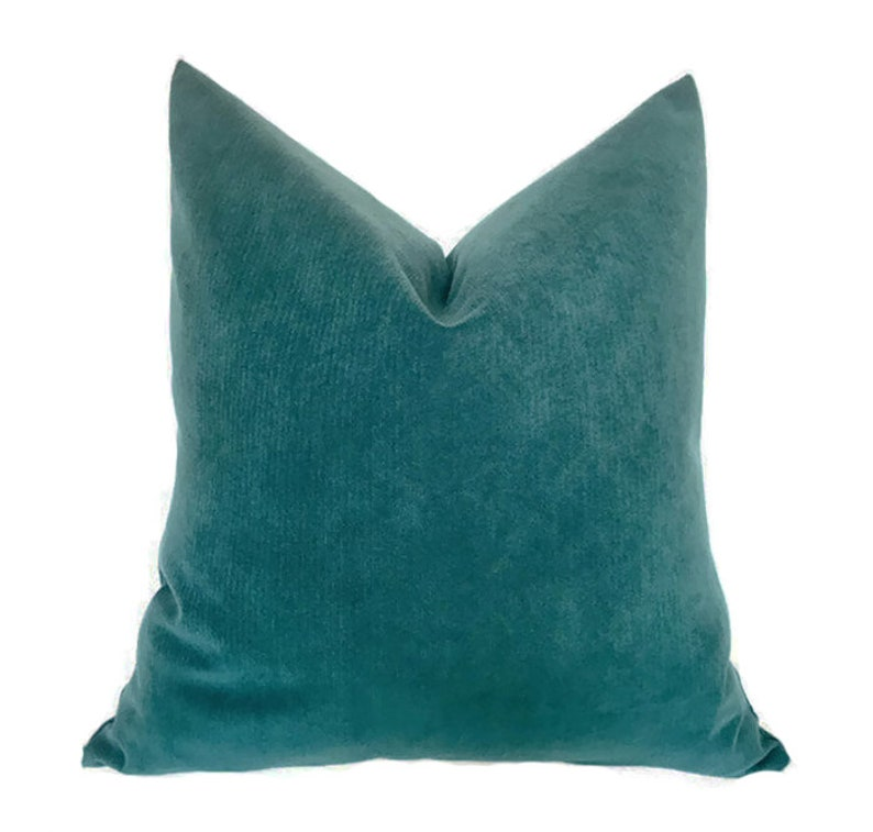 e663b723e740 Ocean Blue Teal Velvet Pillow COVER ONLY