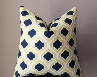 Moroccan style pillow, Blue Yellow Pillow covers, Pillows, Home decor, Decorative pillows