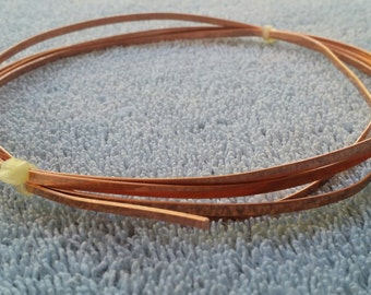 Flat Copper Wire 3mm X 0.75mm Five Feet Long