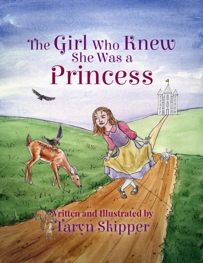 Princess picture storybook in verse positive message for image 0