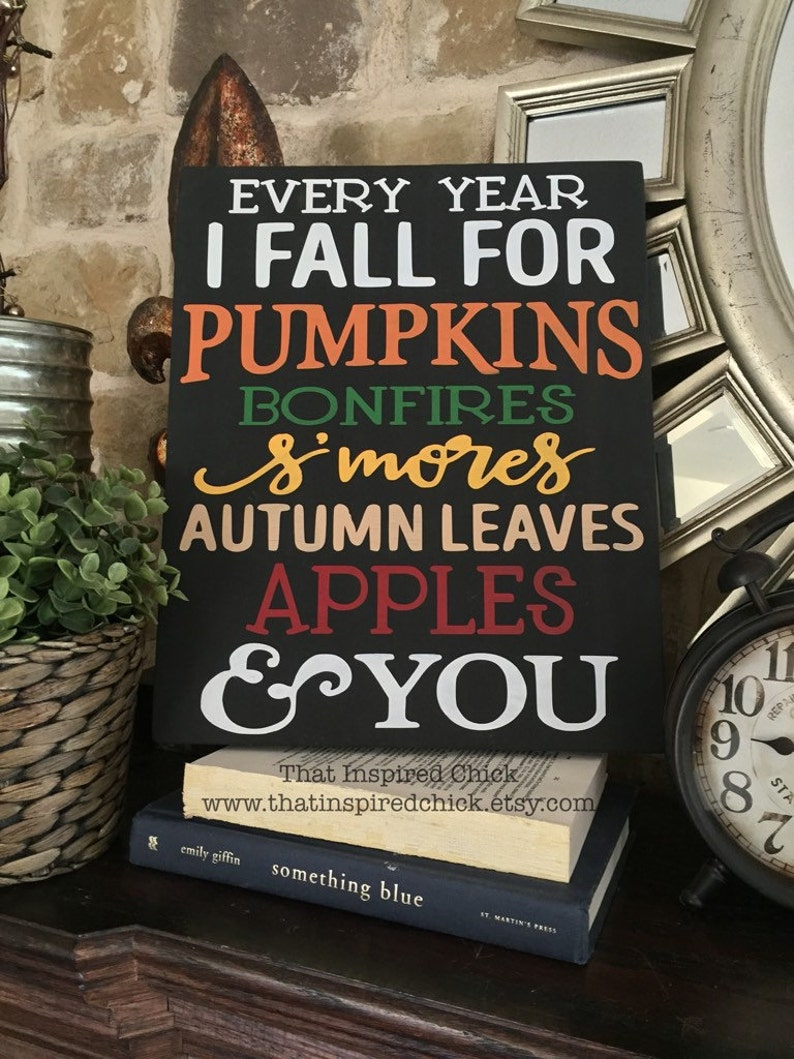 Fall Wood Sign  Handpainted  11x14  Fall Decor  Every Year image 2