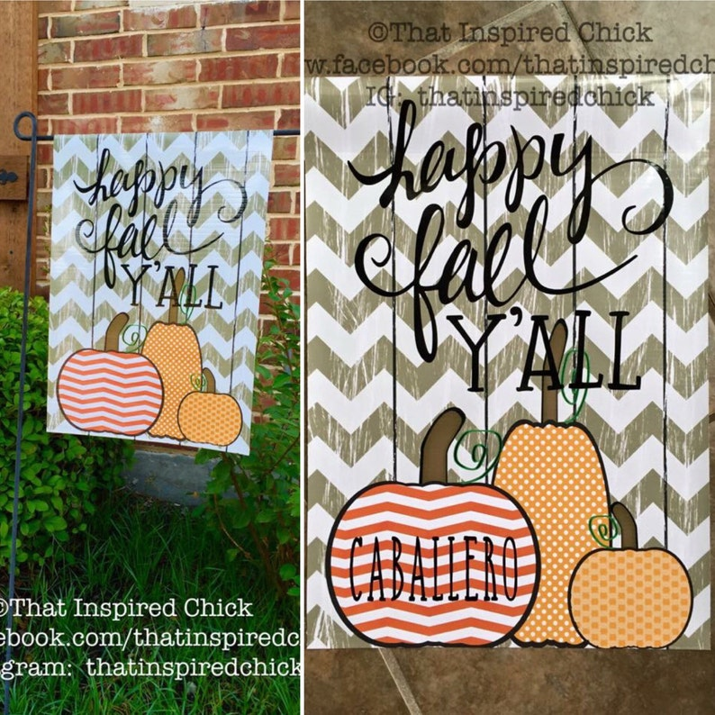 Happy Fall Yall Garden Flag  Fall Decor  Front Yard Decor  image 0