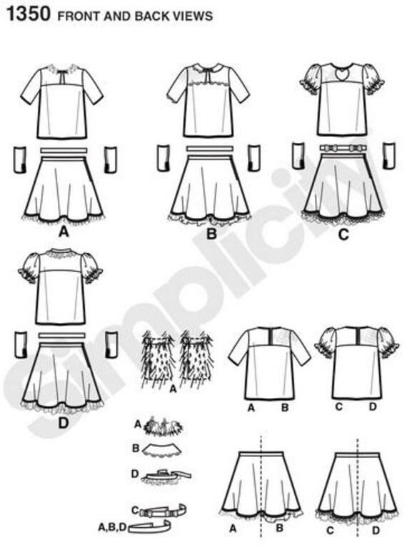 Patrón de costura sencillez Halloween traje 1350 niñas Hip | Etsy