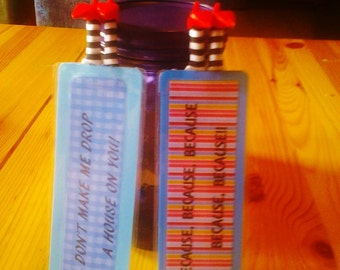 Wizard of Oz Bookmark Quotes and custom