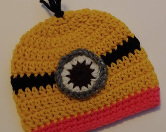despicable me party baby shower gift halloween costume Crochet Edith despicable me inspired beanie