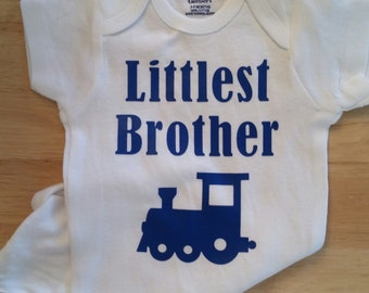 Littlest Brother Baby Clothes, Little Brother, Gender Reveal, Baby Boy Clothes, Littlest Brother, Baby Announcement, Baby Boy Gift, Brother