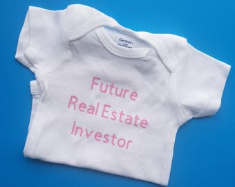 Future Real Estate Investor Baby Clothes, Funny Baby Clothes, Gender Neutral Baby Clothes, Real Estate Investor Baby Clothes, Pregnancy Gift