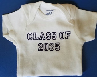 Class of Baby Clothes, Funny Baby, Gender Neutral Baby Clothes, Pregnancy Announcement, Class Of, Graduation Baby Clothes, Graduate Baby