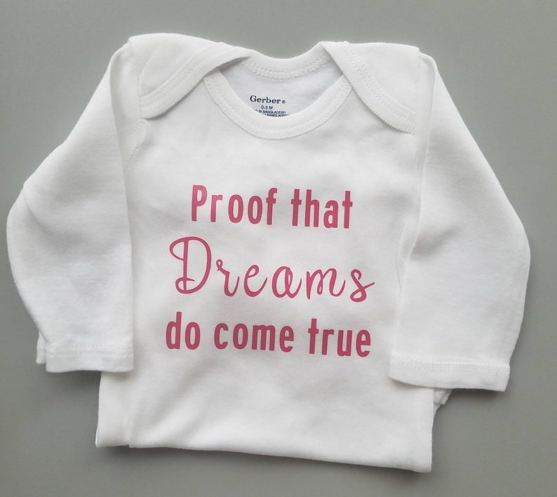 758abfd58 Proof Dreams Do Come True Gender Neutral Baby Clothes | Etsy