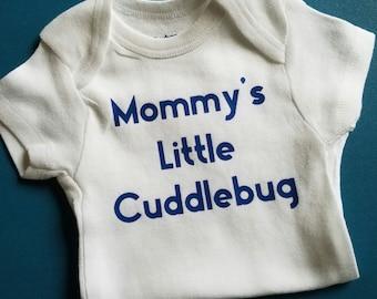 Mommy's Little Cuddlebug Baby Clothes, Gender Neutral Baby Clothes, Mommy Baby Clothes, Cuddlebug, Pregnancy Gift, Entomologist Baby, Bug